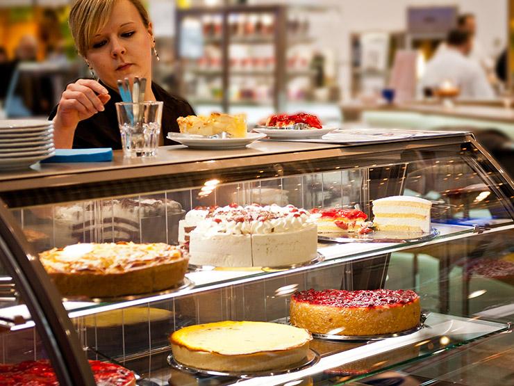 Elegant Bäckereitheke, Kuchentheke, Kuchenvitrine Für Bäckereien   HAGOLA